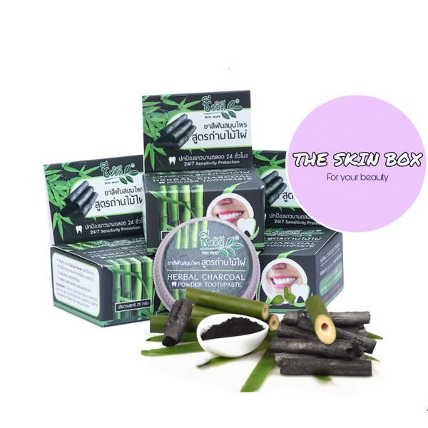 [HCM]Bột Trắng Răng Than Tre Herbal Charcoal Thái Lạn