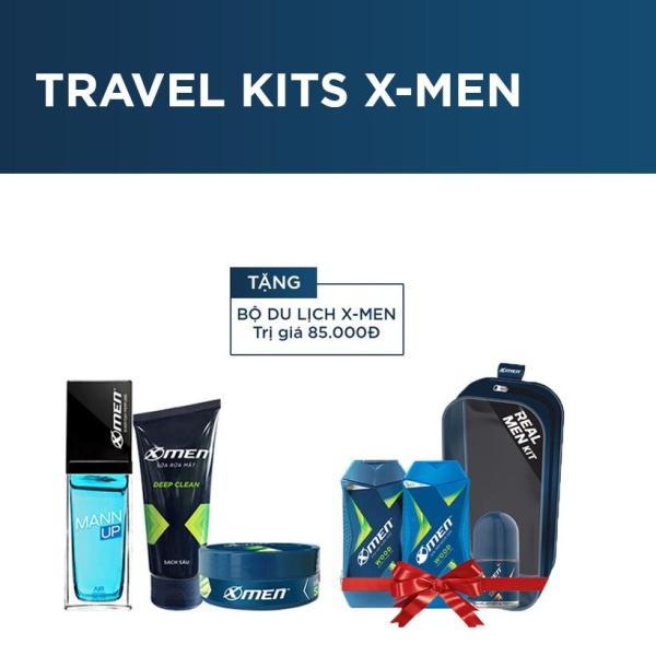 Bộ sản phẩm: Nước hoa hằng ngày X-Men Mannup 50ml + Sữa rửa mặt 50g + Wax vuốt tóc 22g (Tặng bộ du lịch Travel Kits 85.000Đ)