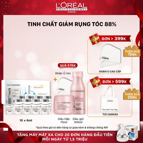 Tinh chất giảm rụng tóc LOreal Professionnel Aminexil Advanced LOréal 10x6ml nhập khẩu