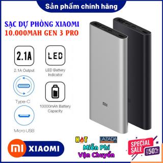 Pin Dự Phòng Xiaomi 10000mAh Gen 3 New 2020 Pin Dự Phòng Đa Năng Bảo Hành 12 Tháng Lỗi 1 Đổi 1. thumbnail