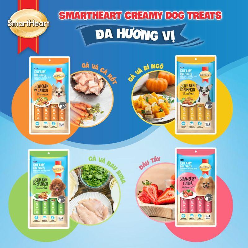 Soup kem thưởng cho chó Smartheart creamy 60g