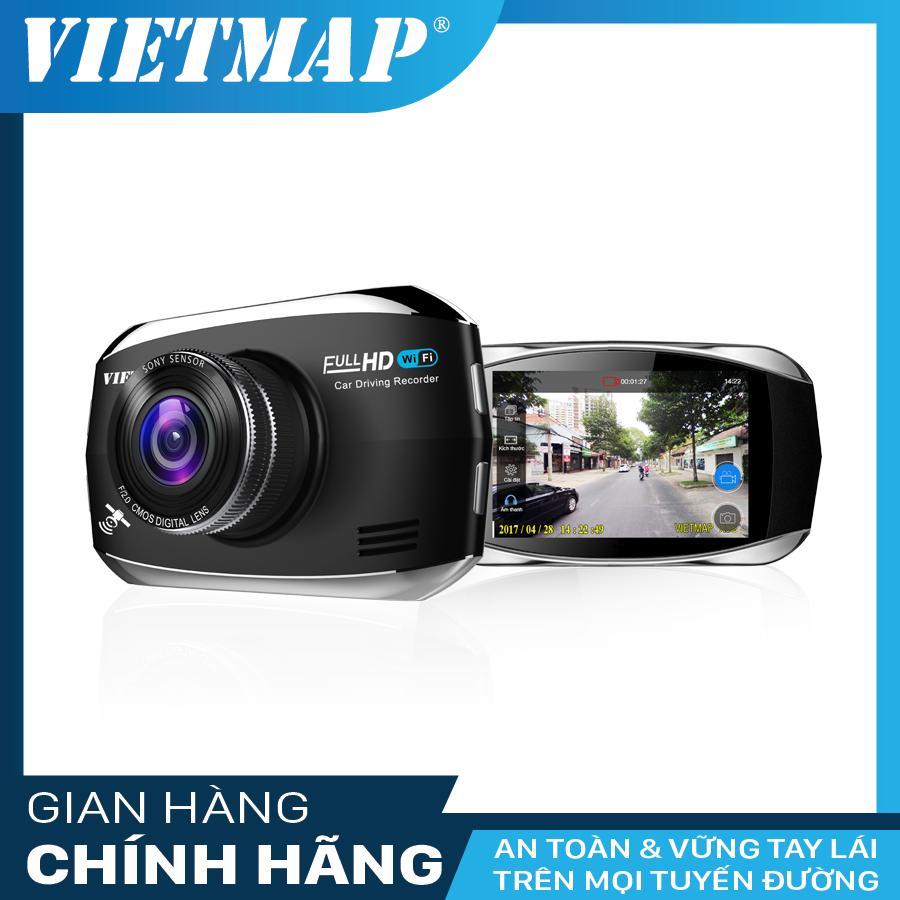 Camera Hành Trình Ô tô - Thiết Bị Ghi Hình VietMap X9S + Có WiFi + Thẻ Nhớ 16GB + GPS