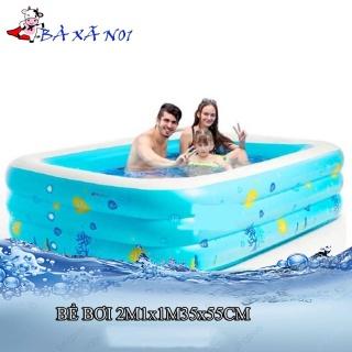 [Loại 1]Bể bơi phao hồ bơi khổng lồ cỡ Lớn 210x135xCao55cm và 300x172x55 cm thành cao 3 tầng loại dày cho trẻ em bé thumbnail