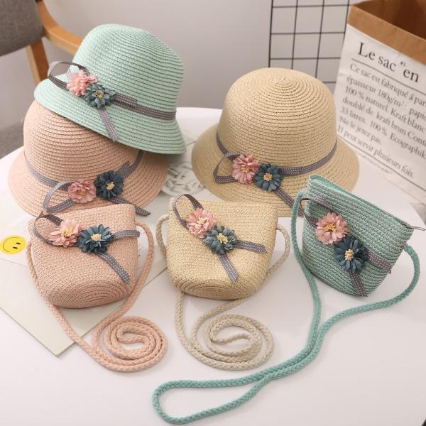 Giá bán Bộ nón vá túi cói cho bé gái. Quà tặng đáng yêu cho bé từ 6-12 tuổi.