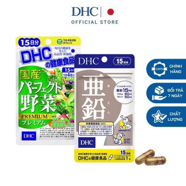 DHC Viên uống bổ sung kẽm zinc và 32 loại rau củ tổng hợp hỗ trợ rục tóc, giảm nóng trong 15 ngày