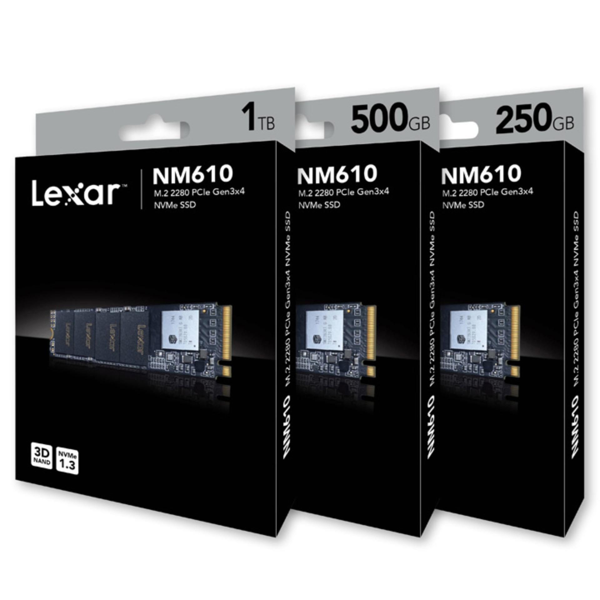 Giá Ổ cứng SSD PCIe NVMe Lexar NM610 250GB 500GB 1TB - bảo hành 3 năm