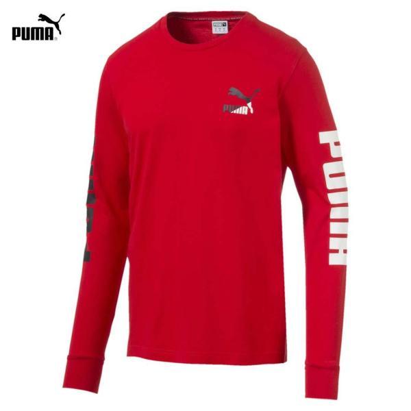 Áo Thun Tay Dài Nam Puma Classics Logo Mens Long Sleeve Tee Màu đỏ