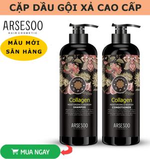 Cặp Dầu Gội Xả Colagen - Giúp cung cấp duỡng chất cho tóc, hạn chế quá trình rụng tóc, Mùi thơm vô cùng quyến rũ thumbnail