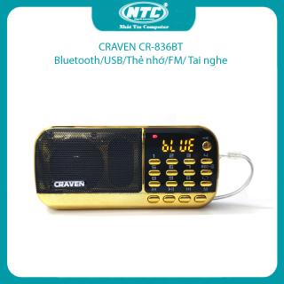 [HCM]Loa đài FM đa năng Craven CR-836BT hỗ trợ Bluetooth Thẻ nhớ USB Tai nghe Đèn pin - dung lượng pin 4400mah (Đen đỏ) Nhất Tín Computer thumbnail