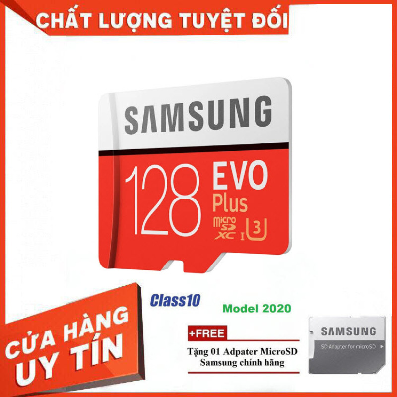 [Xả Kho 50 Cái] Thẻ nhớ MicroSD Samsung EVO Plus 4K 128GB 100MB/s 256GB Box Anh 2020 - Hàng Chính Hãng