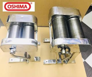 Máy Thái bì lợn OSHIMA bằng inox, máy thái bì heo quay tay, máy thái bì làm nem thính thumbnail
