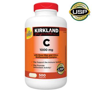 Viên uổng bổ sung Vitamin C 1000mg Kirkland Signature 500 Viên thumbnail