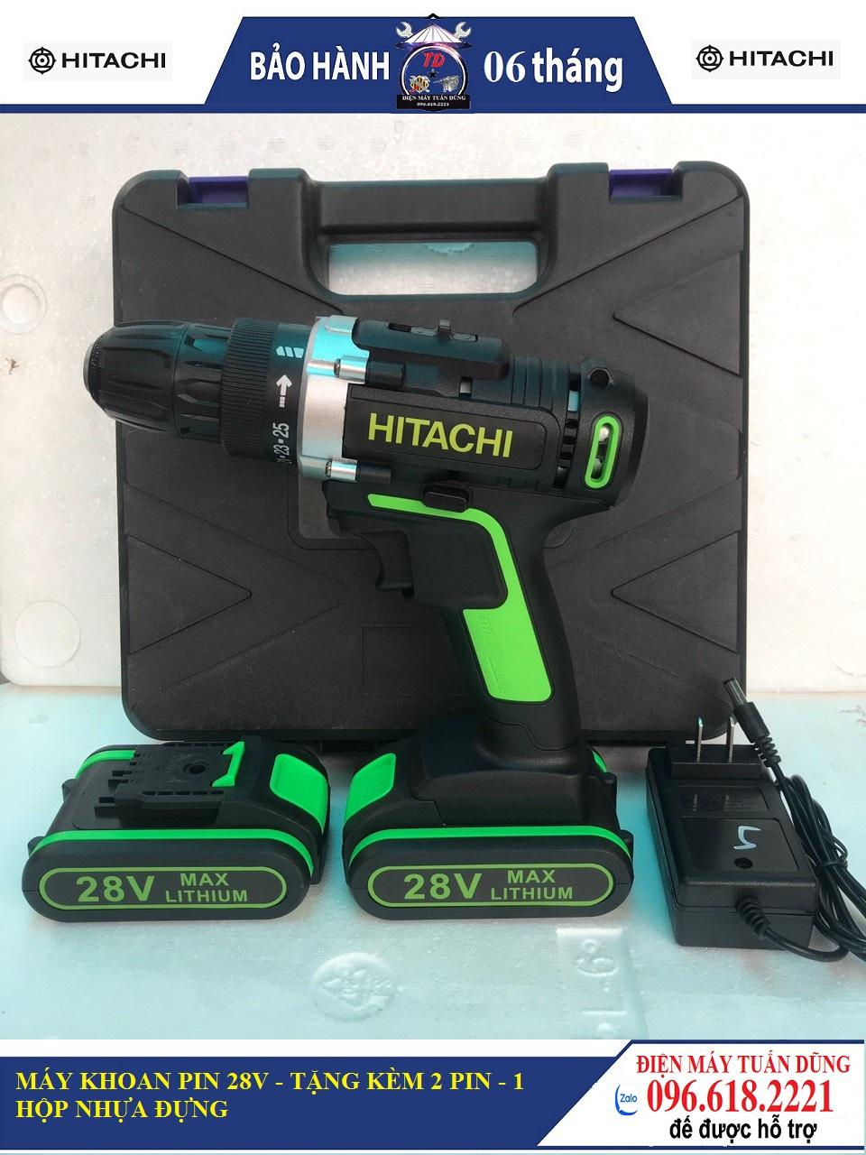 Máy khoan pin Hitachi 28V - 2 pin