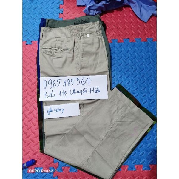 Giá bán Quần Bảo Hộ Lao Động Nhiều Màu kaki NĐ