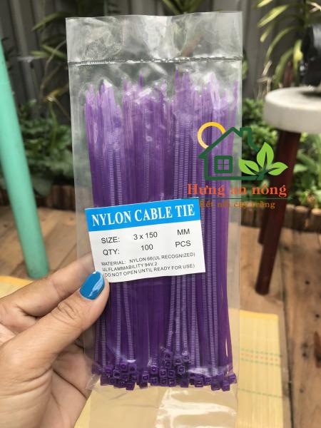 [HCM]Dây rút nhựa màu tím 2.5x150mm