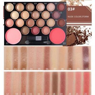 Bảng phấn trang điểm 20 ô màu mắt + 2 ô má hồng, tạo khối Novo 20+02 makeup No.5126- Bộ màu có nhũ, bán nhũ (Kèm cọ mắt + gương) thumbnail