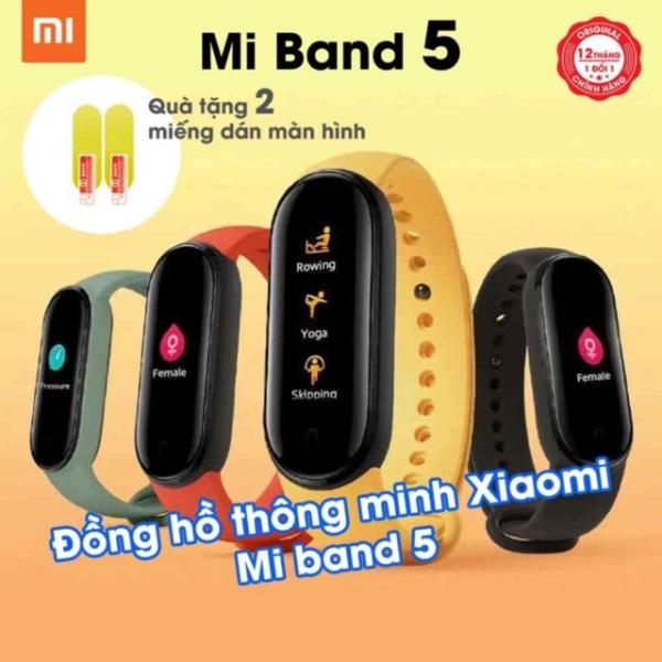Giá Vòng đeo tay thông minh Smartband XIAOMI Mi Band 5 / Mi Band 4 - Tặng kèm 2 miếng dán màn hình