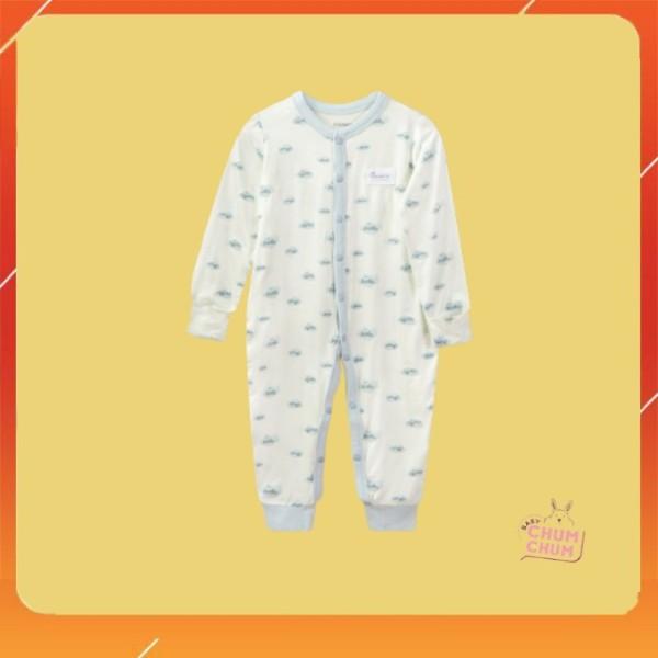 Nơi bán [NEW] Body Cotton Dài Cho Bé Cúc Giữa Summer Xanh Da Trời Chaang (0 - 6 tháng) Babychumchum