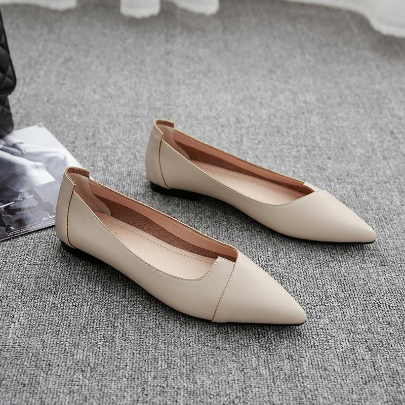 Shoes women Flat Pointed Shallow Mouth 2019 New Style Flat Heel Shoes women  Versatile Korean Style 43c69125d374