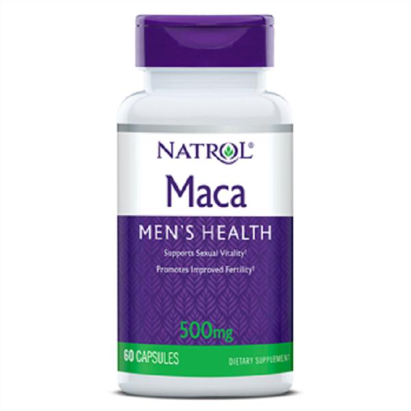 Viên Uống Natrol Maca Mens Health 500mg 60 viên tăng cường sức khỏe nam giới - Natrol Maca 500 mg của Mỹ