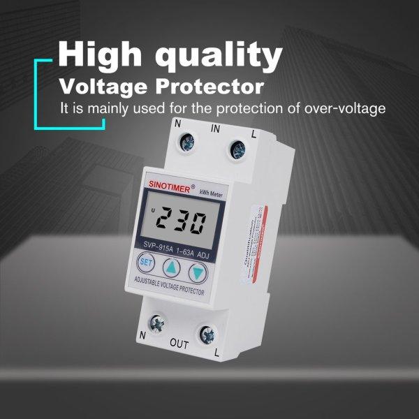 Giá Thiết bị bảo vệ chập điện, quá áp, quá dòng, công tơ điện tử SVP-915A 63A (Attomat đa năng điện tử chất lượng cao)