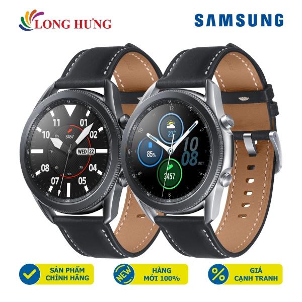 Đồng hồ thông minh Samsung Galaxy Watch 3 LTE 45mm viền thép dây da - Hàng Chính Hãng - Thiết kế sang trọng Màn hình Super AMOLED sống động Sử dụng độc lập nhờ eSIM