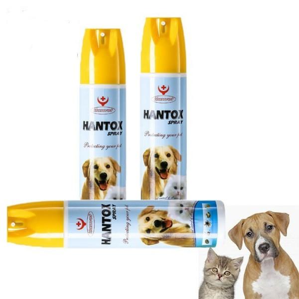 Chai xịt ve rận Hantox 300ml cho chó mèo, hoạt chất chiết xuất từ cây họ cúc và hoàn toàn an toàn cho vật nuôi