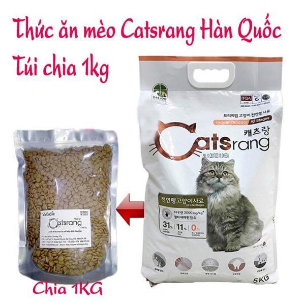 Thức ăn mèo Catsrang gói 1kg dành cho mèo mọi lứa tuổi xuất xứ Hàn Quốc