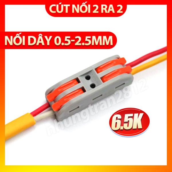 Bảng giá Cút đôi nối điện nhanh PCT-222 - chịu tải 32A - dây tối đa 2,5mm