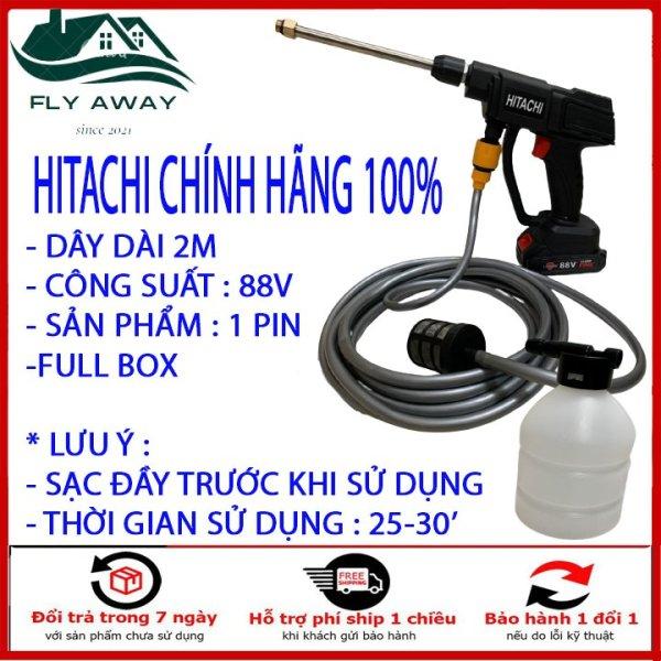 Máy Xịt Rửa Xe Bằng Pin 3 Chế Độ Chính Hãng Hitachi Cực Mạnh Pin Công Suất 88V Mạnh Như Ghim Điện Trục Tiếp . Tặng Kèm Bình Xịt Bọt Tuyết. Bảo hành 12 tháng.
