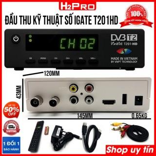 Đầu thu DVB-T2 iGate T201HD VNPT H2Pro chính hãng, đầu thu kỹ thuật số mặt đất giá rẻ (tặng dây HDMI 1M 30k) thumbnail