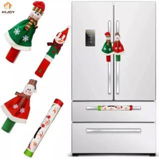 H & JOY Tay Cầm Tủ Lạnh Người Tuyết Giáng Sinh Lò Vi Sóng Ông Già Noel, Nắp Tay Nắm Cửa Máy Rửa Chén