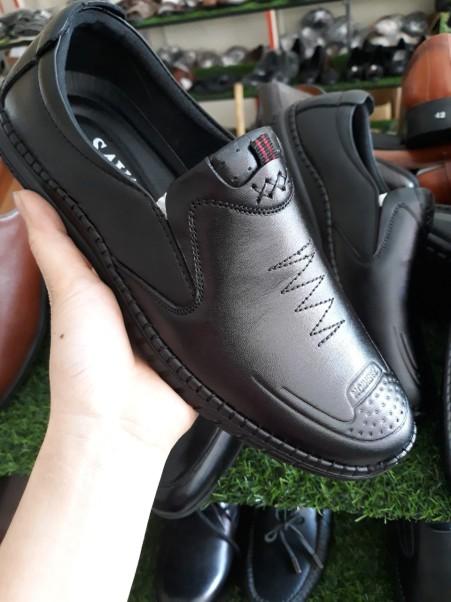 Giày công sở nam da bò cao cấp bảo hành 12 tháng  (R1) giá rẻ