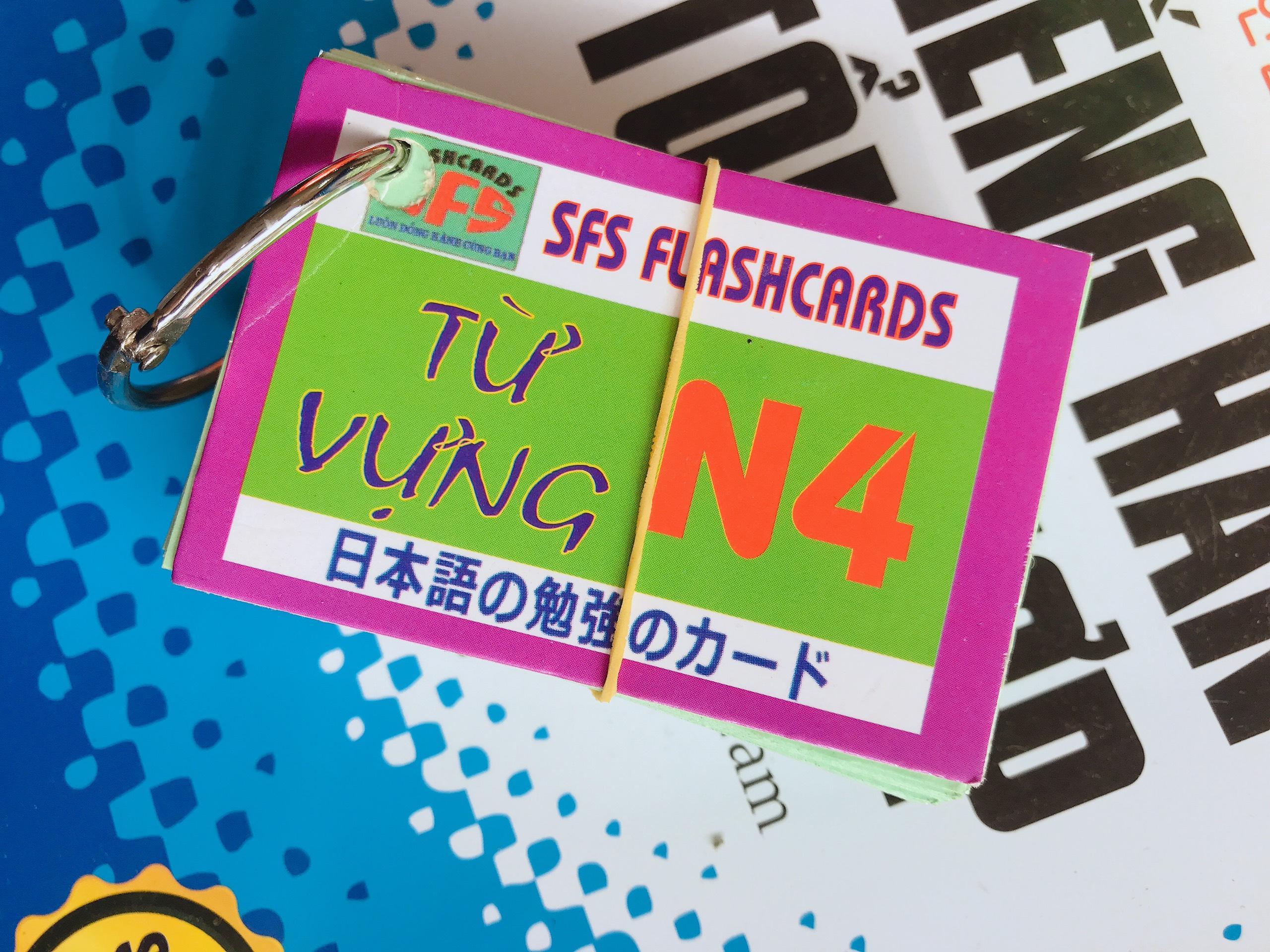 Thẻ Học Tiếng Nhật N4 - Combo 4 Thẻ Bất Ngờ Giảm Giá