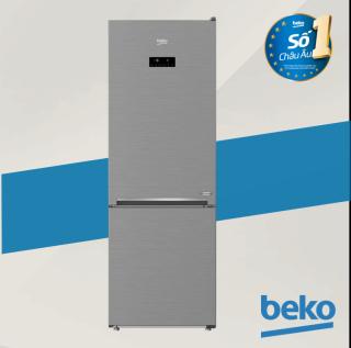 Tủ lạnh Beko Inverter RCNT340E50VZX - Tủ lạnh 2 dàn lạnh độc lập cho hiệu quả làm lạnh nhanh và sâu - 323L - Giữ ẩm đến 95% với ngăn chuyên biệt EverFresh+. - Hàng chính hãng bảo hành 2 năm