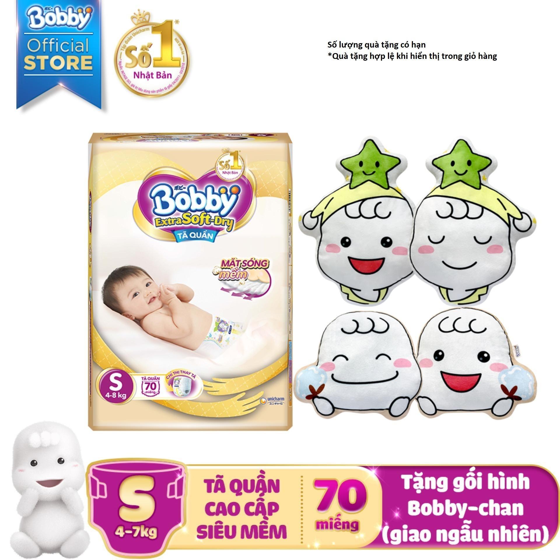 [Tiết Kiệm] Tã/Bỉmquần cao cấp siêu mềm Bobby Extra Soft...