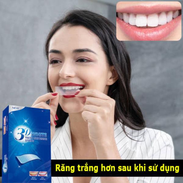 (FREE SHIP TOÀN QUỐC)Miêng dán trắng răng 3D WHITE làm trắng răng tại nhà hiệu quả tức thì trong vòng 7 ngày 1 hộp 7 miếng ( TẶNG QUÀ TRÊN MỖI ĐƠN HÀNG ) cao cấp