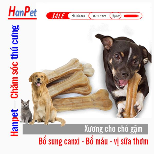 HCM-(1 chiếc) Xương ống da bò cho chó gặm (nhiều loại) phù hợp với nhiều loại chó sạch rang thơm miệng giàu canxi