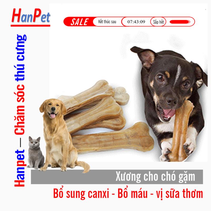 HN- lẻ 1 cái  Xương ống da bò cho chó gặm - phù hợp với chó lớn trên 15kg (371) 20cm-HP10333TC