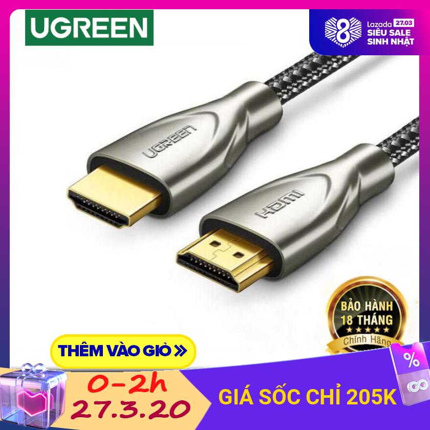 Bảng giá Cáp HDMI 2.0 Carbon chuẩn 4K@60MHz dài từ 1-5m UGREEN HD131 - Hãng phân phối chính thức Điện máy Pico