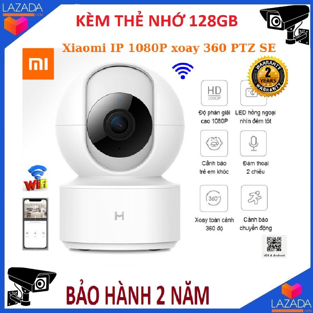 Tùy chọn thẻ nhớ 128GB-Camera wifi thông minh Xiaomi IP 1080P xoay 360 PTZ SE , đàm thoại 2 chiều , cảm biến cảnh báo chuyển động , camera ip , camera ptz ,camera ai , camera thông minh ,camera an ninh , camera giám sát , camera xiaomi