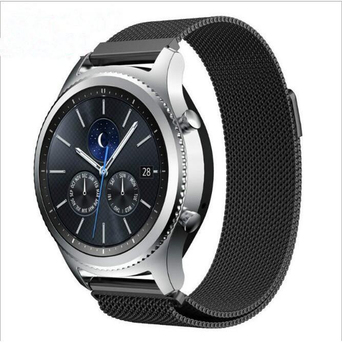 Giá Dây Đeo 22mm Thép Lưới Milanese Cho Samsung Gear S3 Classic, Frontier, Galaxy Watch, Zte Quartz, Huewei Watch, Amazfit GTR