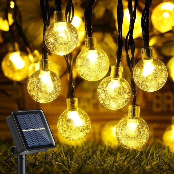 Năng Lượng Mặt Trời Không Thấm Nước Ngoài Trời 20/30/50/100 Đèn LED Pha Lê Năng Lượng Mặt Trời 8 Chế độ Trang Trí Tiệc Cưới Ngày Lễ