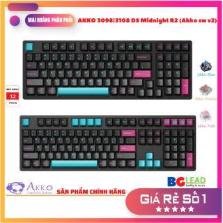 Bàn phím cơ AKKO 3098 3108 DS Midnight R2 (Akko sw v2) - Phiên bản mới - Mai Hoàng nhập khẩu và phân phối toàn quốc thumbnail