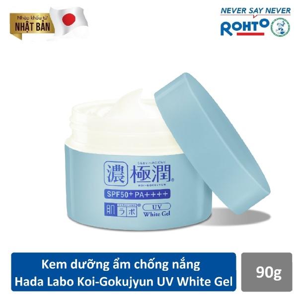 Kem dưỡng ẩm chống nắng ban ngày Hada Labo Koi-Gokujyun UV White Gel SPF50+ PA++++ 90g