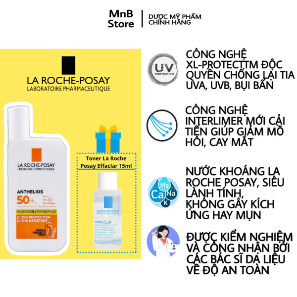 Kem chống nắng La Roche Posay Anthelios Fluid Invisible SPF 50+ 50ml - La Roche Posay Shaka Fluide