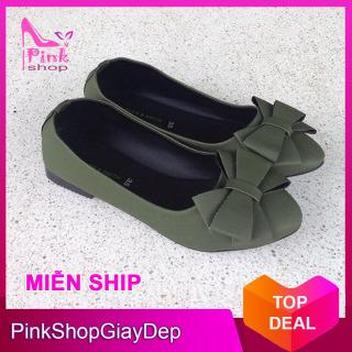 (Có mã giảm ship) Giày nữ, giày búp bê PinkShopGiayDep chất liệu da, êm chân, bền, xinh xắn PinkShopGiayDep - MS 224 thumbnail