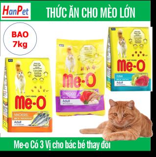 HCM- Me-o 7kg Thức ăn viên cho mèo lớn - CÁ NGỪ - CÁ THU - HẢI SẢN dạng bao 7kg thức ăn mèo trưởng thành (trên 1 năm tuổi) thumbnail