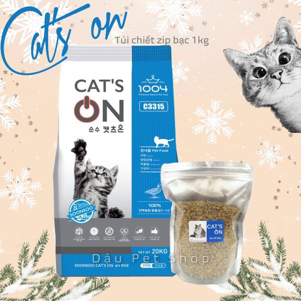 Cats on Hàn Quốc - Thức ăn hạt cho mèo túi zip bạc chiết