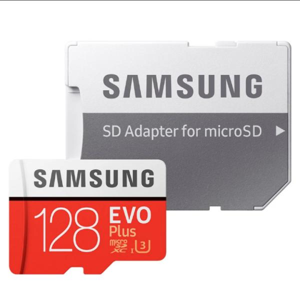 Thẻ nhớ MicroSDXC Samsung Evo Plus 128GB UHS-I U3 4K 100MB/s kèm Adapter - box Anh